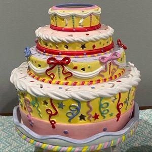 SOLD Celebration Cake & Cupcake Candle Holder